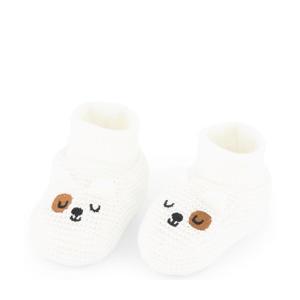 babyslofjes gebroken wit
