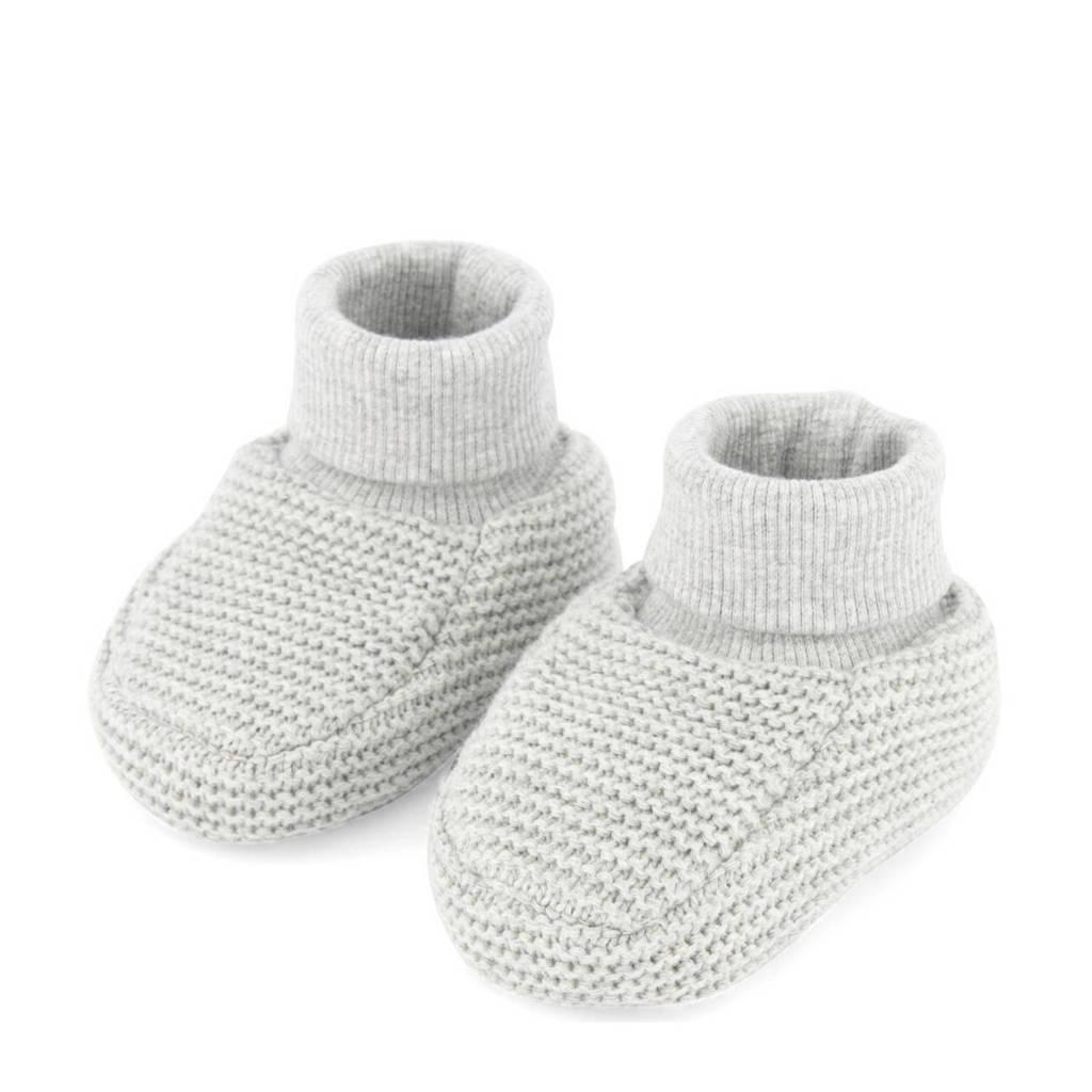 HEMA babyslofjes lichtgrijs, Grijs melange