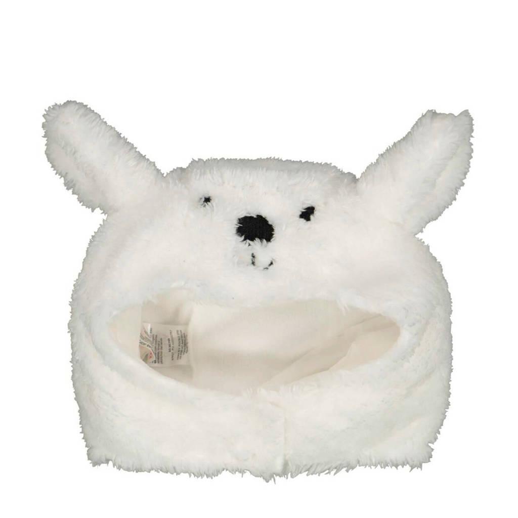 HEMA teddy muts wit, Gebroken wit
