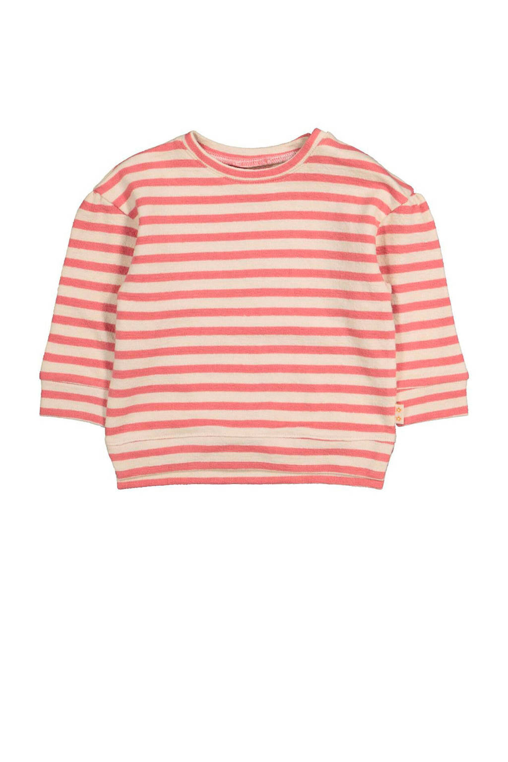 HEMA gestreepte sweater oudroze, Oudroze