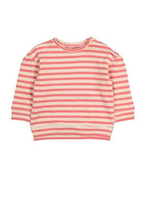 gestreepte sweater oudroze