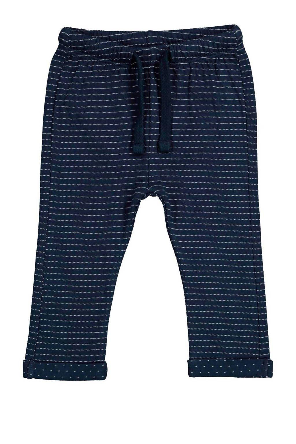 HEMA gestreepte broek donkerblauw, Donkerblauw