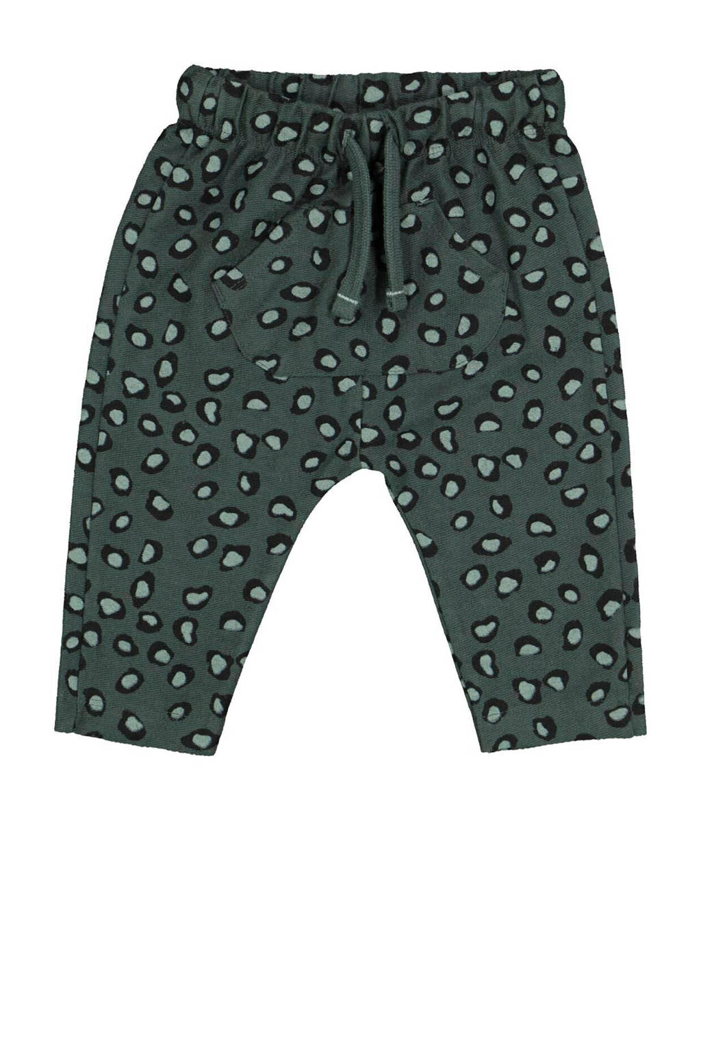 HEMA broek met panterprint groen, Groen