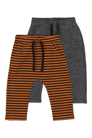 broek bruin/zwart/donkerblauw - set van 2