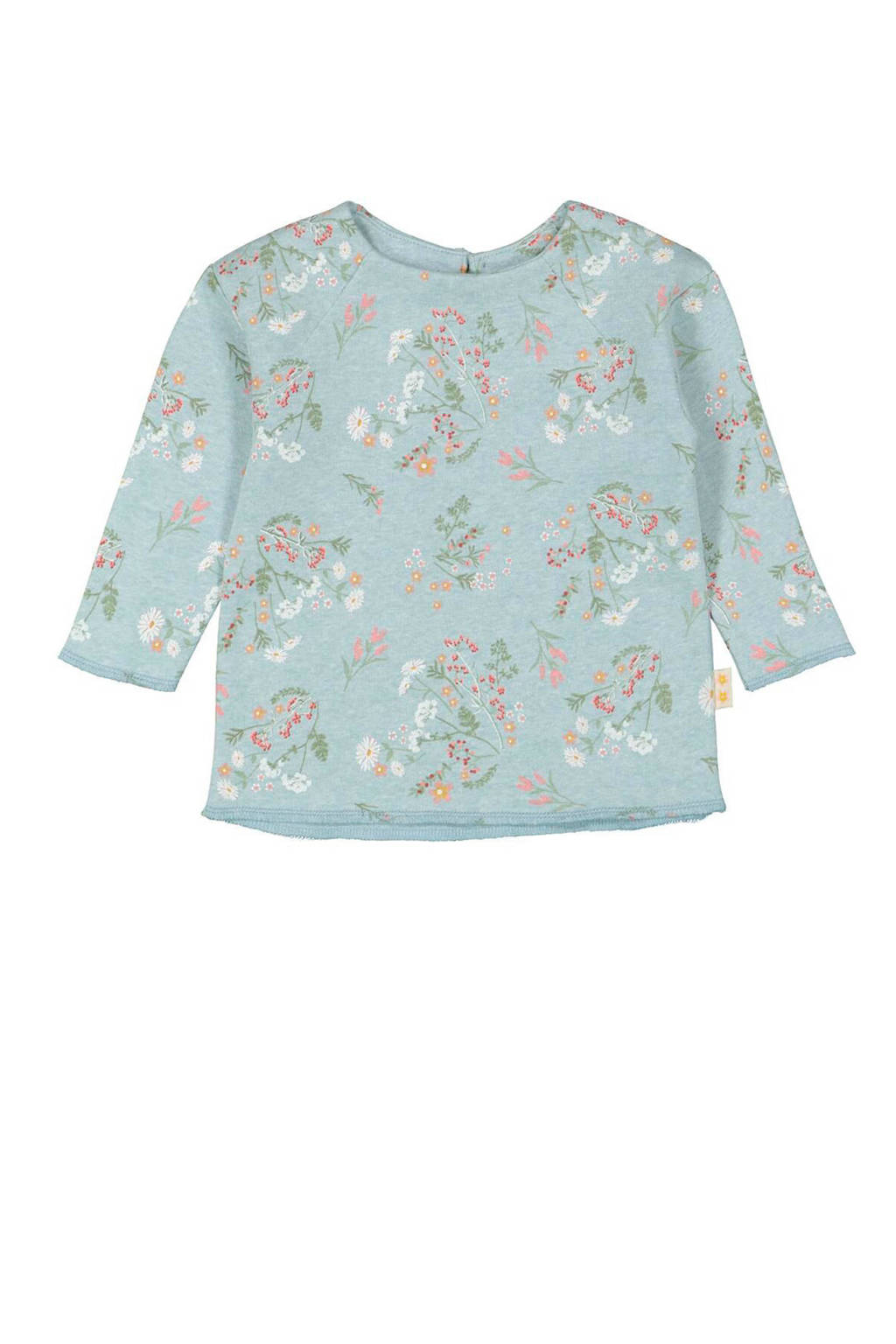 HEMA sweater met all over print lichtgroen, Lichtgroen