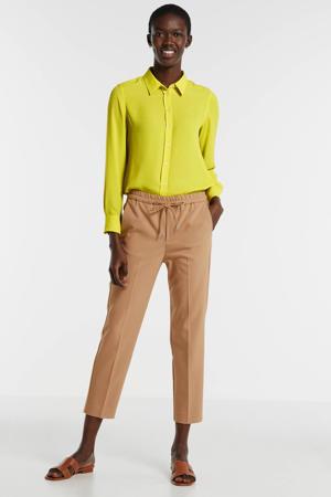 blouse neon geel