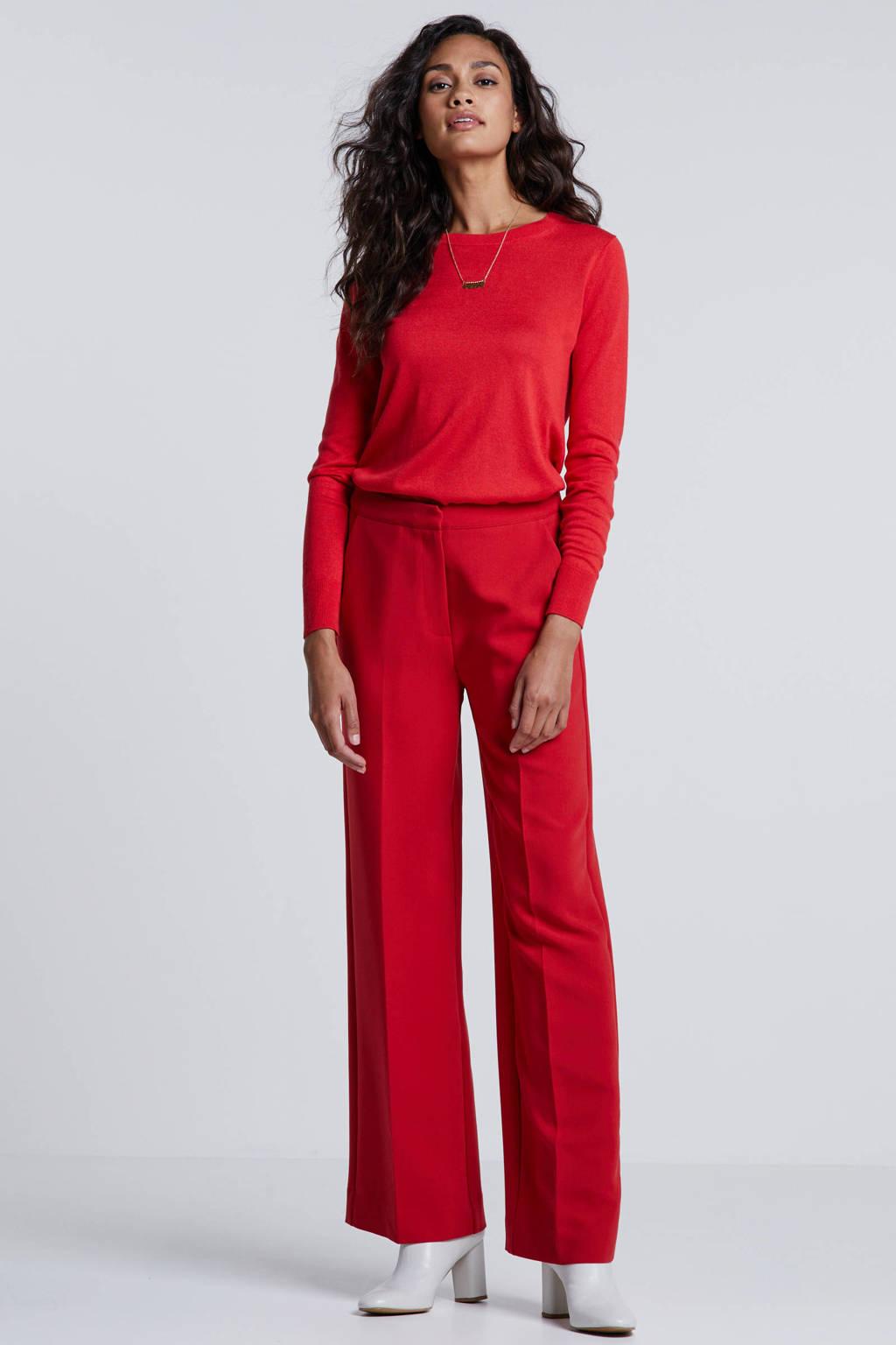 Banana Republic longsleeve met zijde rood, Rood