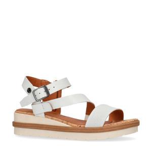 leren sandalen wit