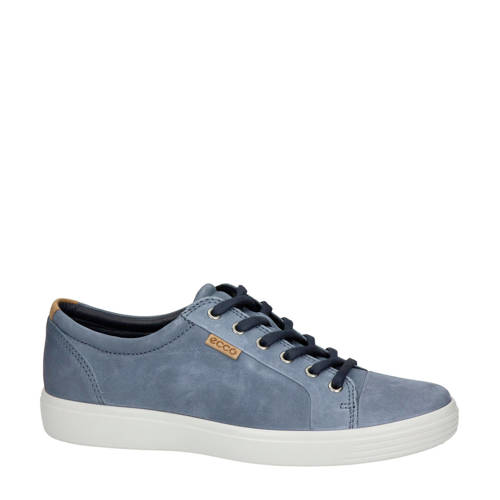 Ecco Soft 7 nubuck sneakers blauw