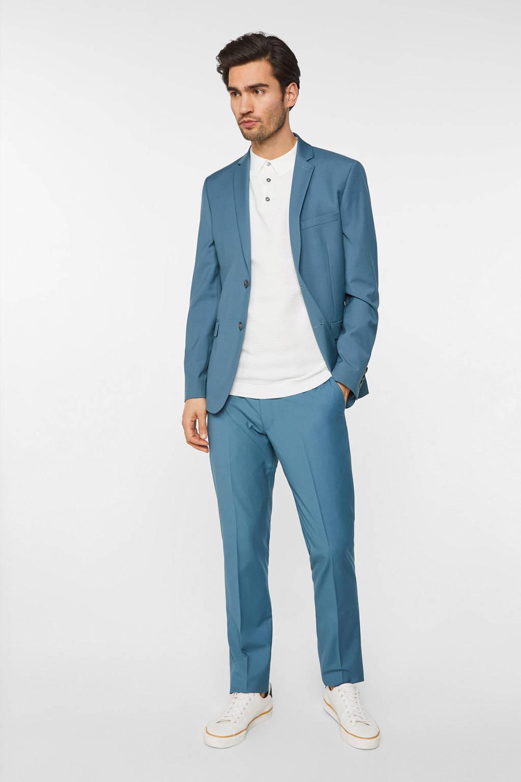 WE Fashion slim fit colbert blue whale, Blue Whale