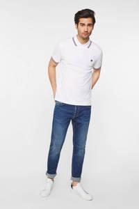 WE Fashion slim fit polo van biologisch katoen white uni, White Uni