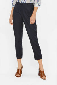 WE Fashion cropped tapered fit tregging zwart, Zwart