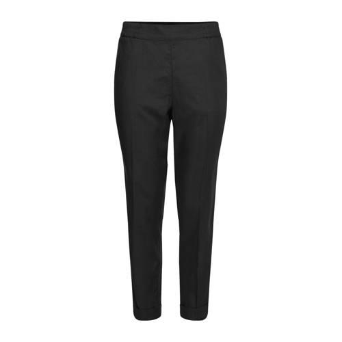 WE Fashion cropped tapered fit tregging zwart