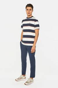 WE Fashion slim fit chino royal navy, Donkerblauw