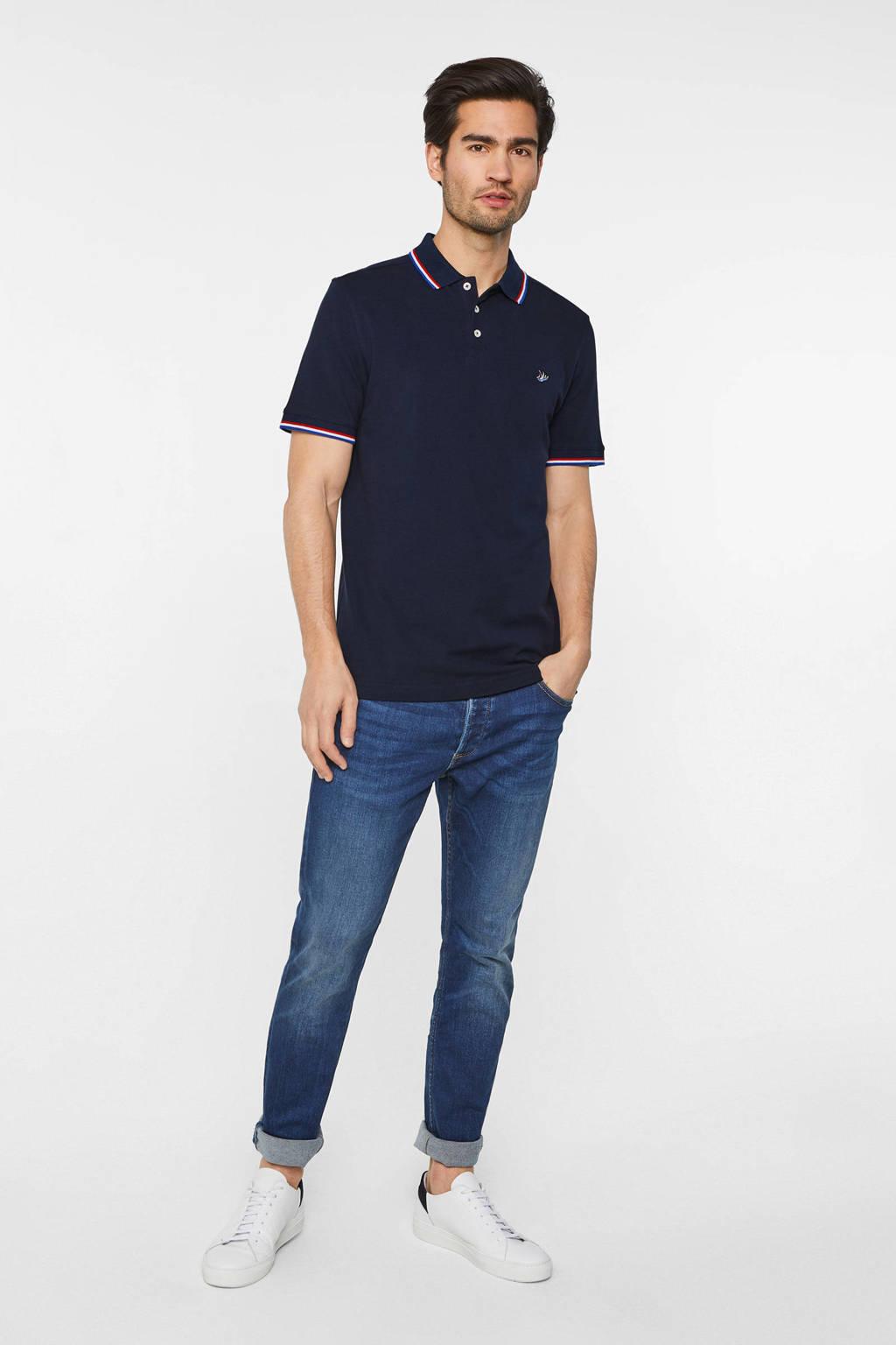 WE Fashion slim fit polo van biologisch katoen royal navy, Royal Navy