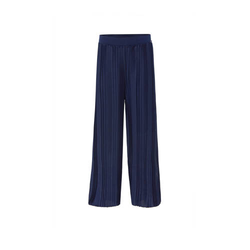 WE Fashion loose fit broek donkerblauw