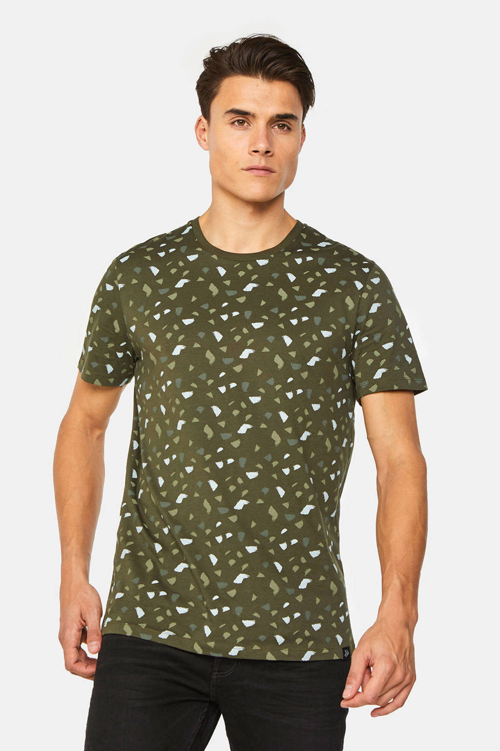 WE Fashion T-shirt met all over print forest night, Forest night