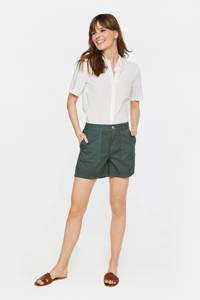WE Fashion straight fit short groen, Groen