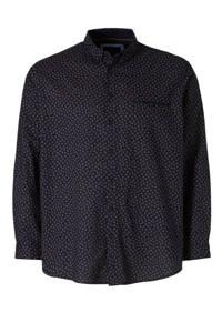 C&A XL Canda slim fit overhemd met biologisch katoen donkerblauw, Donkerblauw
