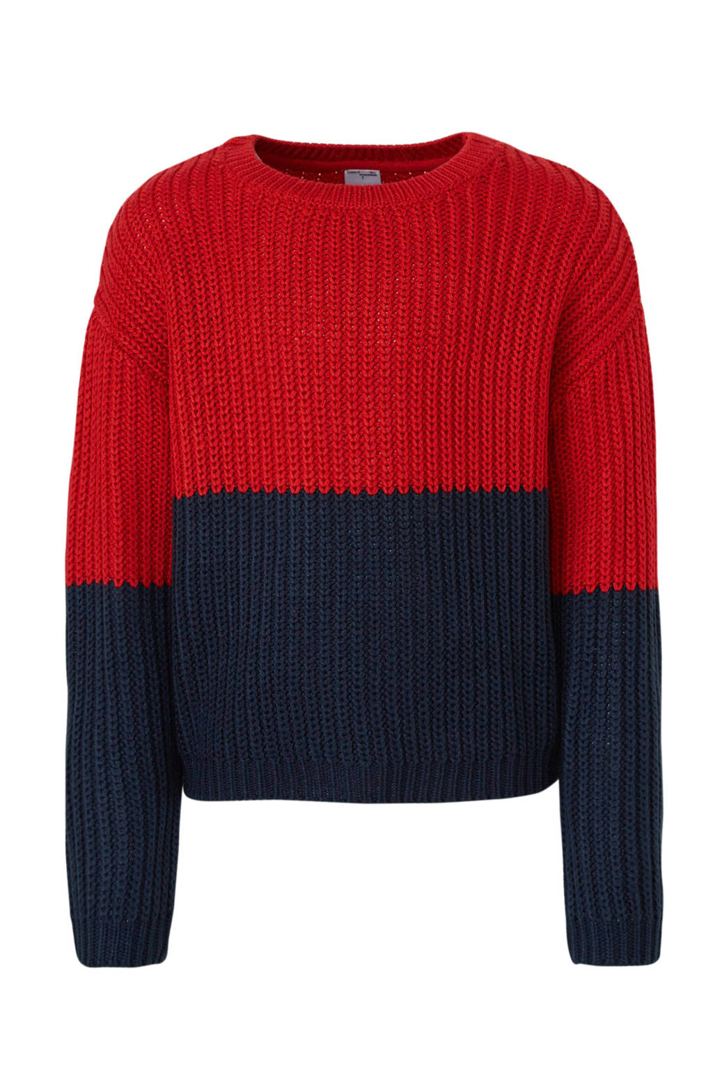 C&A Here & There trui rood/donkerblauw, Rood/donkerblauw