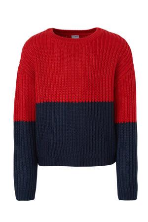 trui rood/donkerblauw