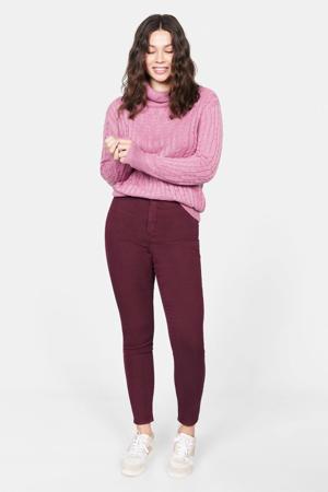 high waist super skinny jegging Tania bordeaux