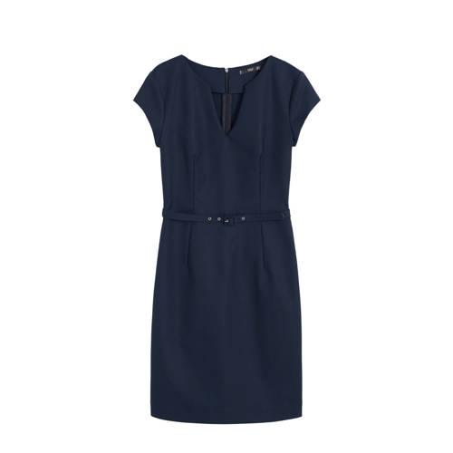 Mango jurk met ceintuur marineblauw