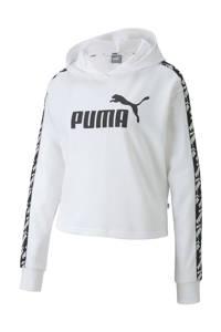 Puma cropped hoodie wit, Wit