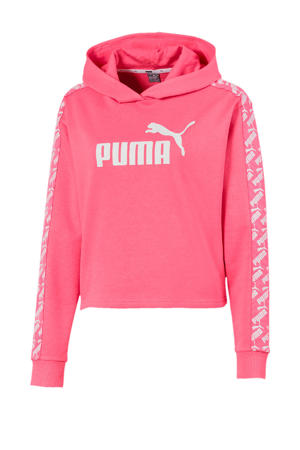 cropped hoodie roze