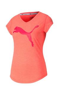 Puma sport T-shirt koraalrood/fuchsia, Koraalrood/fuchsia