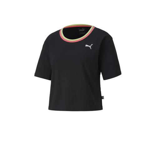 Puma cropped T-shirt zwart