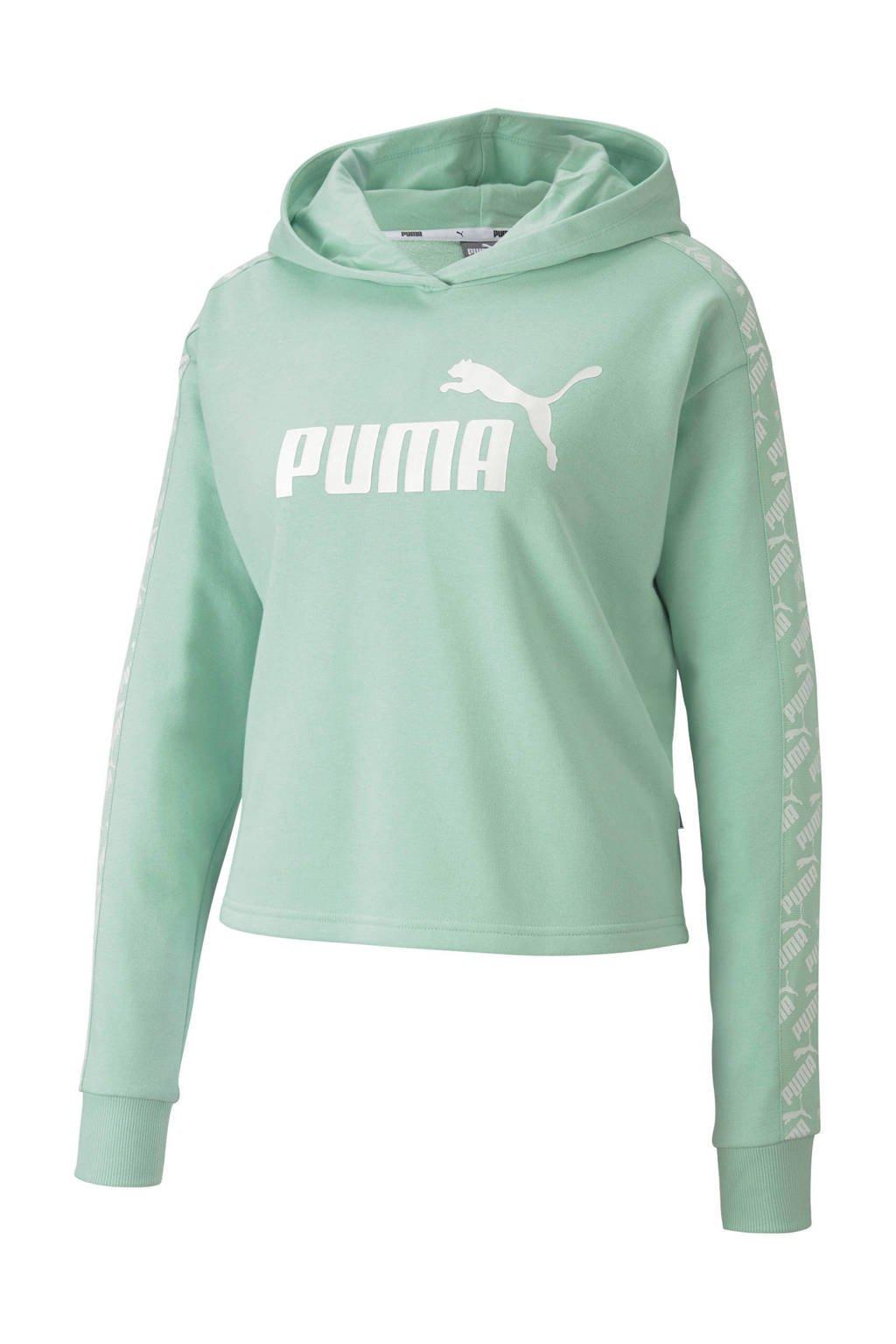 Puma cropped hoodie mintgroen, Mintgroen