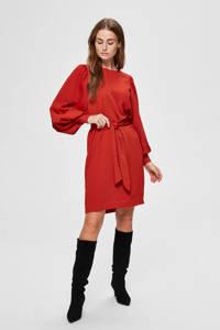 SELECTED FEMME jurk met ceintuur rood, Rood