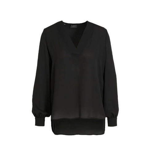 SELECTED FEMME semi-transparante top zwart