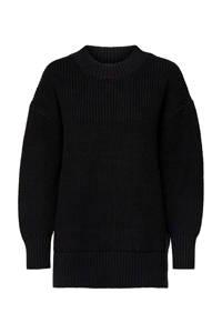 SELECTED FEMME grofgebreide trui zwart, Zwart