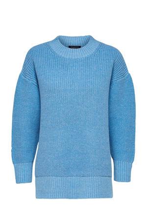 grofgebreide trui lichtblauw