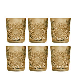 Hobstar waterglas (Ø8,7 cm) (set van 6)