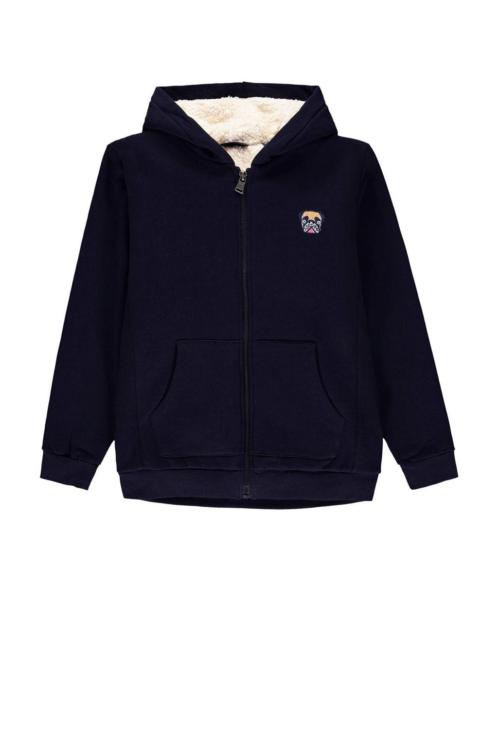 Marc O'Polo vest met borduursels donkerblauw, Donkerblauw