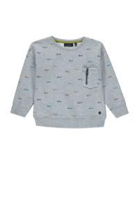 Marc O'Polo sweater met all over print grijs/multi, Grijs/multi