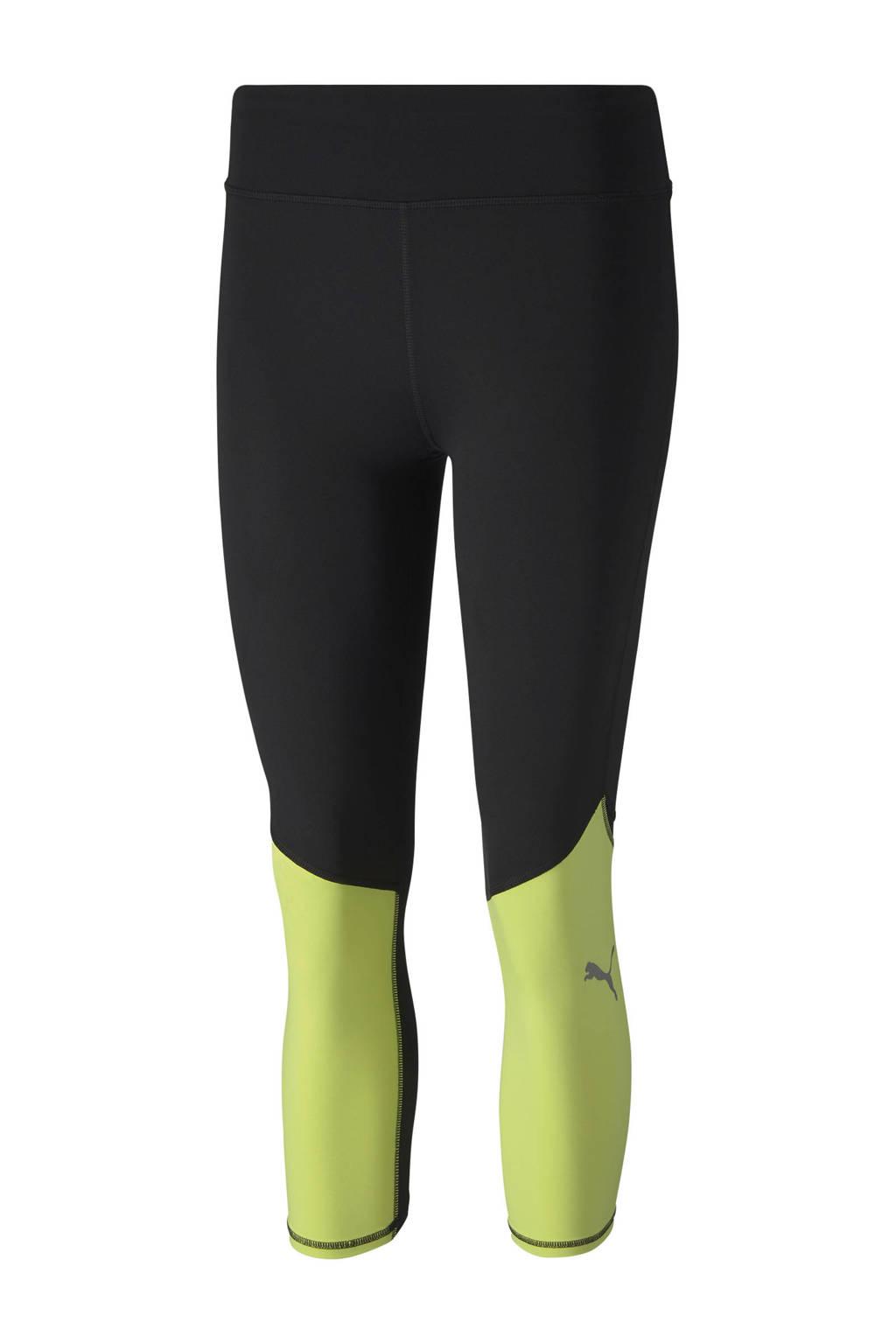 Puma sportbroek zwart/limegroen, Zwart/limegroen