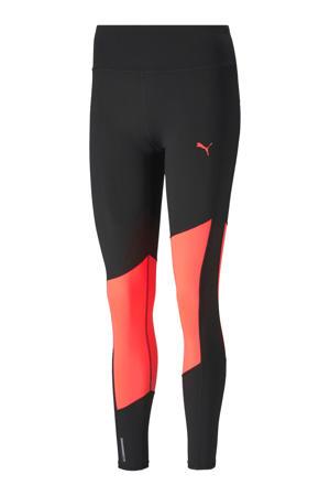 7/8 sportbroek zwart/oranje