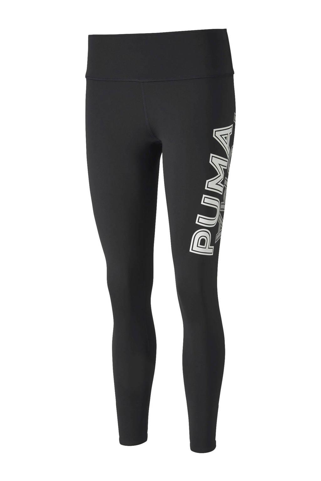 Puma legging zwart/wit, Zwart/wit
