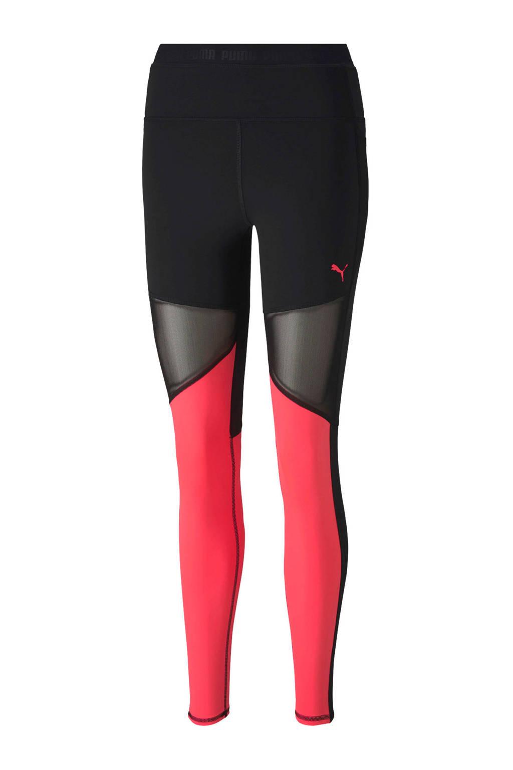 Puma sportbroek zwart/roze, Zwart/roze