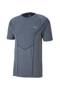 Puma   sport T-shirt grijsblauw gemêleerd, Grijsblauw gemêleerd
