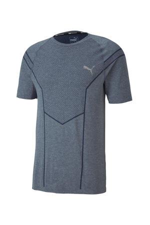 sport T-shirt grijsblauw gemêleerd