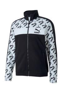 Puma   sportvest zwart/wit, Zwart/wit
