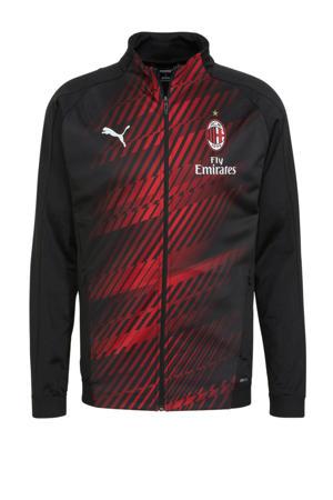 Senior AC Milan voetbaljack zwart/rood