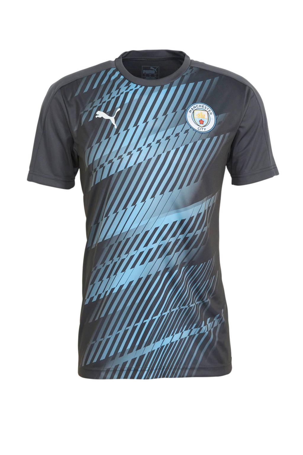 Puma Senior Manchester City voetbal T-shirt, Grijs/lichtblauw