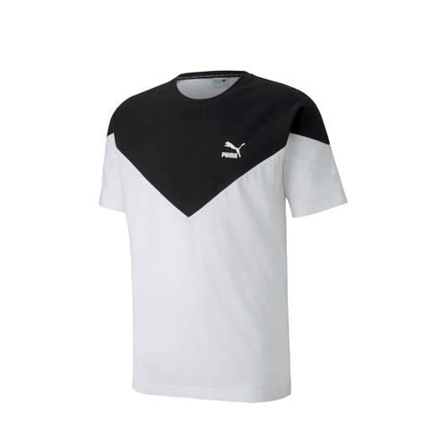 Puma T-shirt wit/zwart