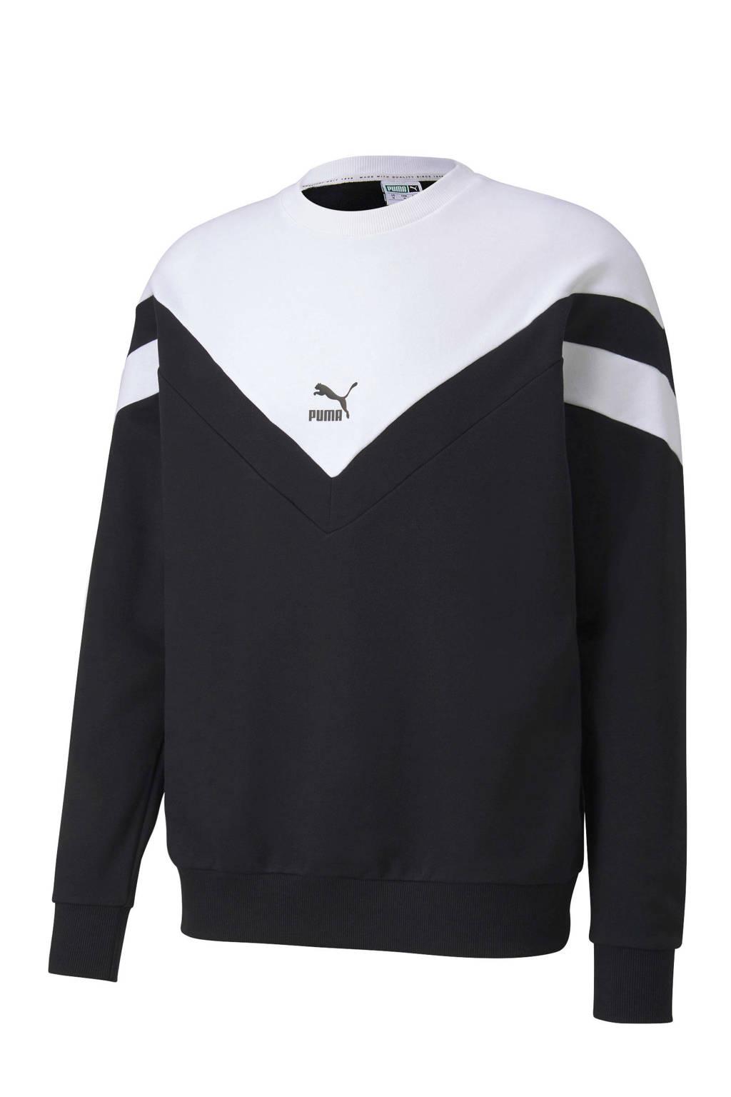 Puma   sweater zwart/wit, Zwart/wit